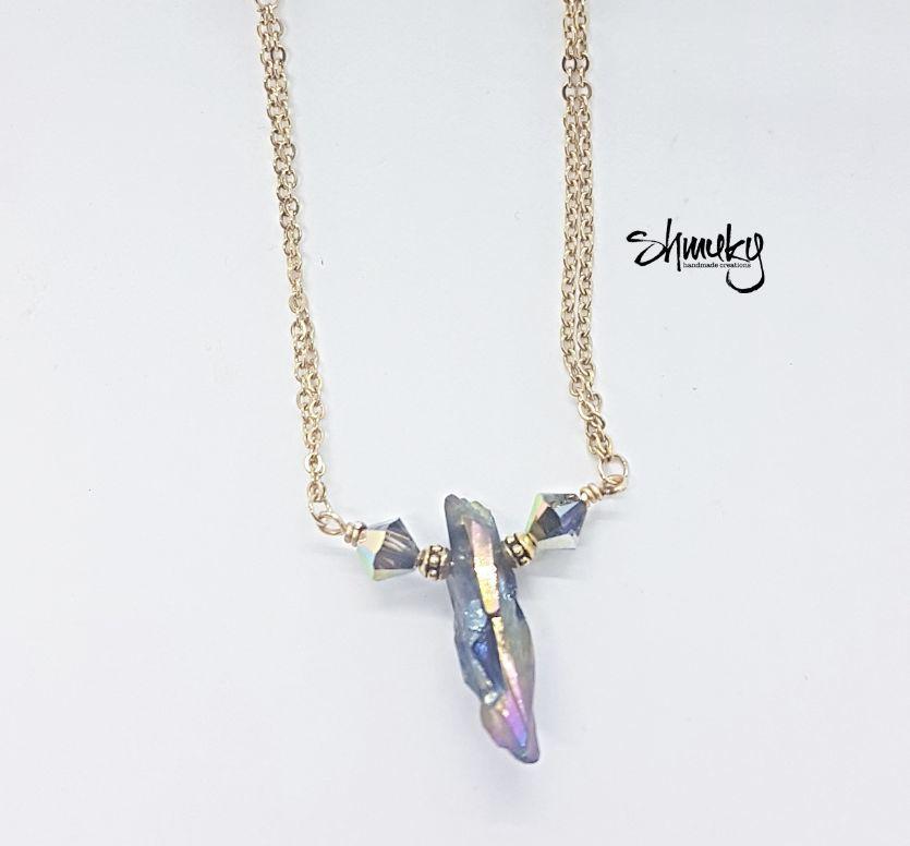náhrdelník Barevná druza