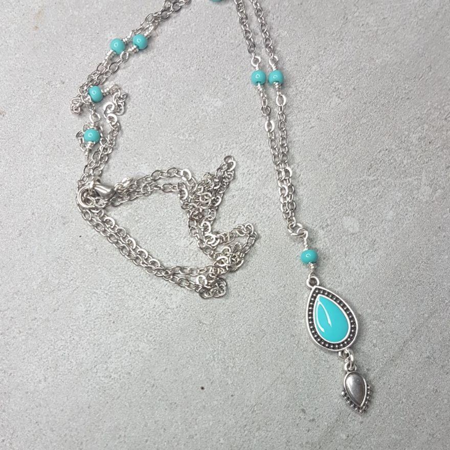 náhrdelník Tyrkysový pohled